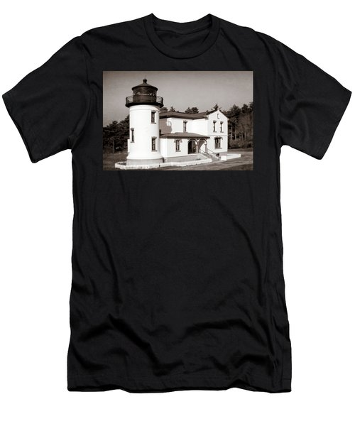 Admiralty Head Lighthouse Vintage Photograph Men's T-Shirt (Athletic Fit)