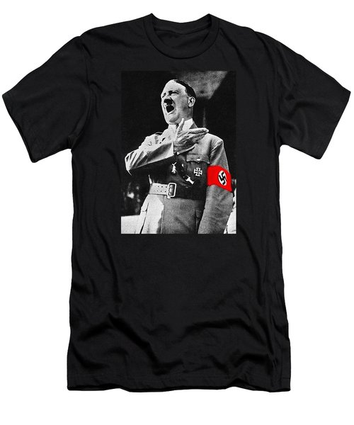 Adolf Hitler Ranting 1  Men's T-Shirt (Athletic Fit)