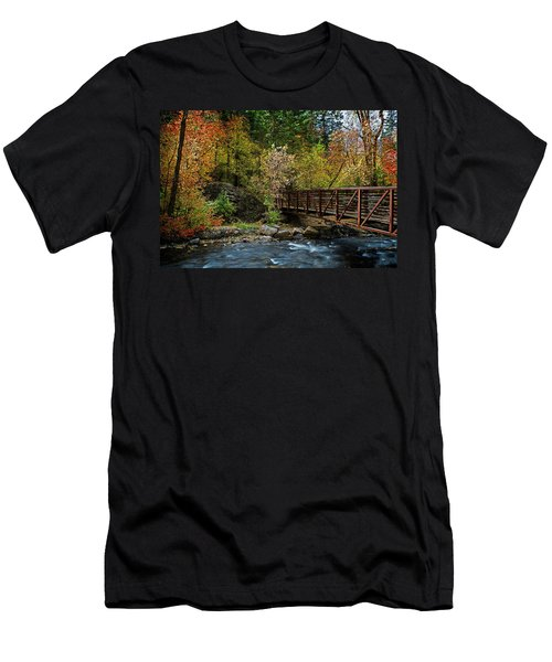 Men's T-Shirt (Athletic Fit) featuring the photograph Adventure Bridge by Scott Read