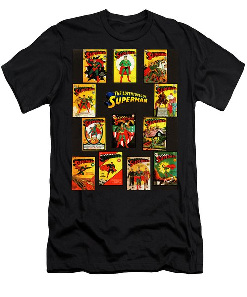 Adventures Of Superman Men's T-Shirt (Athletic Fit)