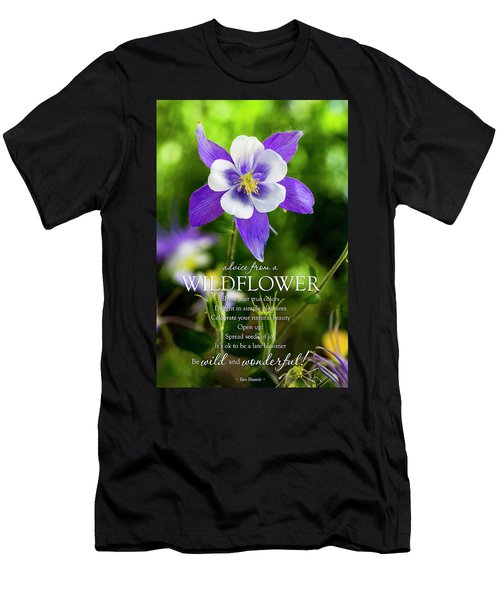 Advice From A Wildflower Columbine Men's T-Shirt (Athletic Fit)