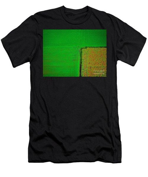 Aerial Farm Mchenry Il  Men's T-Shirt (Athletic Fit)