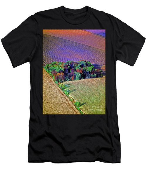 Men's T-Shirt (Athletic Fit) featuring the photograph Aerial Farm Tree Top Grove  by Tom Jelen