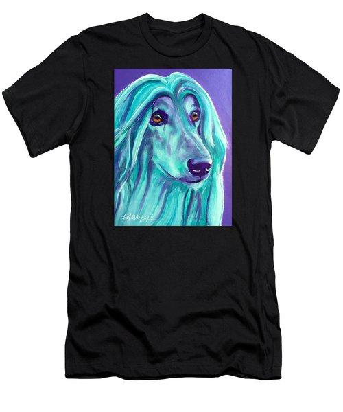 Afghan Hound - Aqua Men's T-Shirt (Athletic Fit)