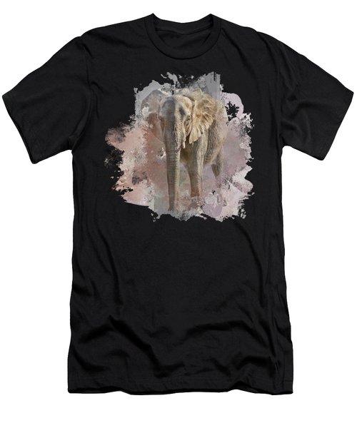 African Elephant - Transparent Men's T-Shirt (Athletic Fit)