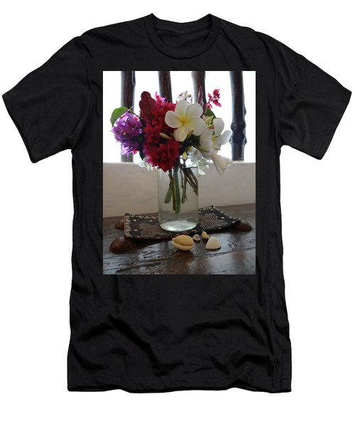 African Flowers And Shells Men's T-Shirt (Athletic Fit)