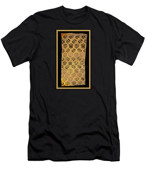 Men's T-Shirt (Athletic Fit) featuring the digital art African Kuba Cloth Print by Vagabond Folk Art - Virginia Vivier