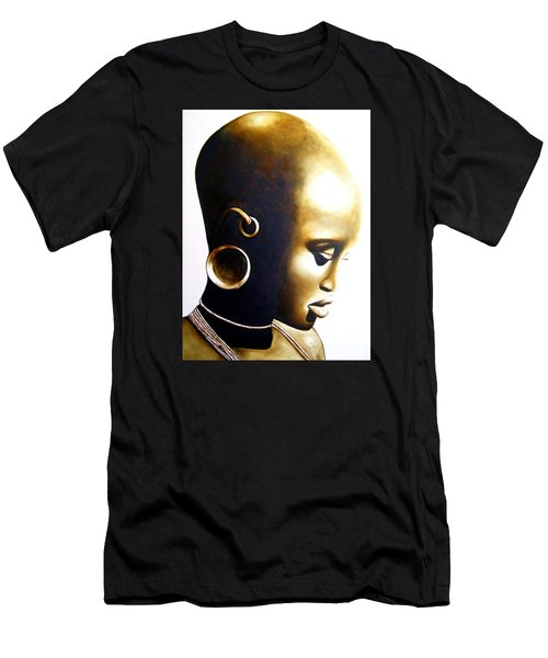 African Lady - Original Artwork Men's T-Shirt (Athletic Fit)