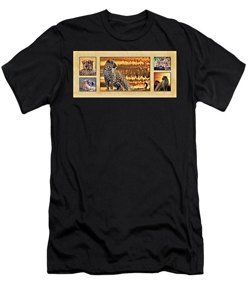 African Leopards And Cheetahs Men's T-Shirt (Athletic Fit)