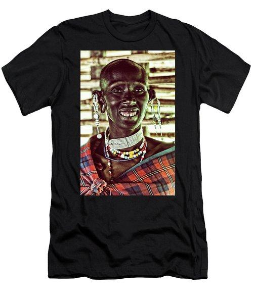 African Maasai Teacher Men's T-Shirt (Athletic Fit)