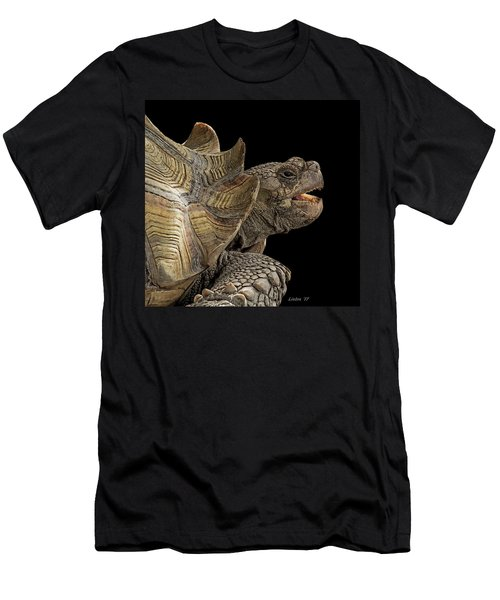 Men's T-Shirt (Athletic Fit) featuring the digital art African Spurred Tortoise by Larry Linton