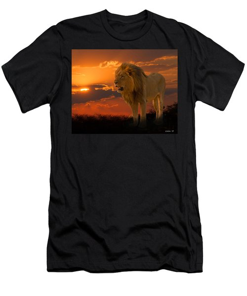 Men's T-Shirt (Athletic Fit) featuring the photograph African Sunset  by Larry Linton
