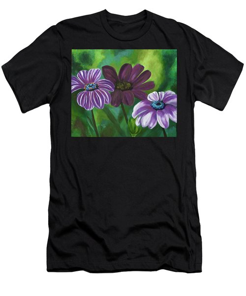 African Violets Men's T-Shirt (Athletic Fit)