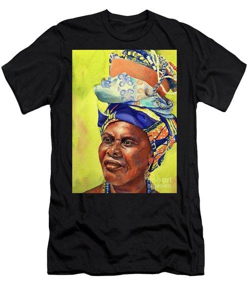 African Woman Men's T-Shirt (Athletic Fit)