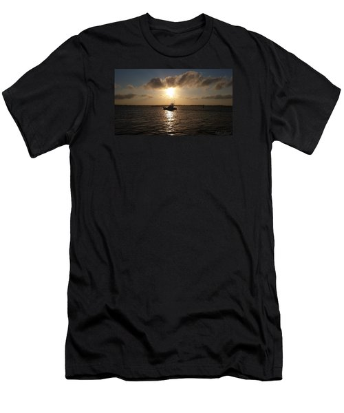 Men's T-Shirt (Slim Fit) featuring the photograph After A Long Day Of Fishing by Robert Banach