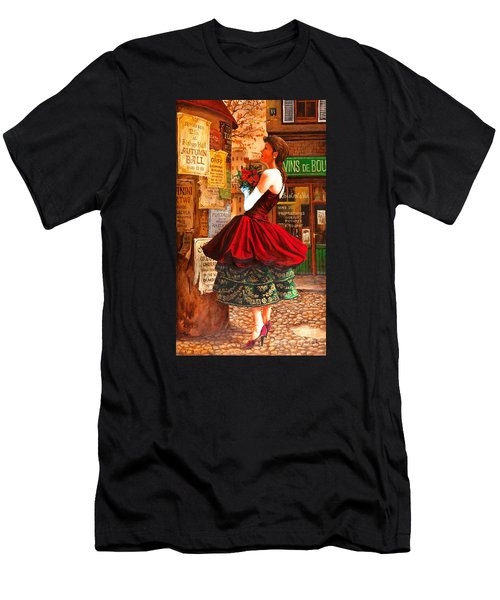 Men's T-Shirt (Slim Fit) featuring the painting After The Ball by Igor Postash