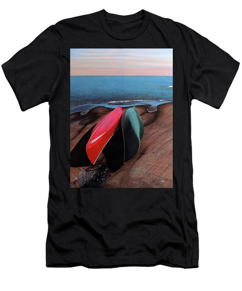 Men's T-Shirt (Slim Fit) featuring the painting After The Crossing by Kenneth M Kirsch