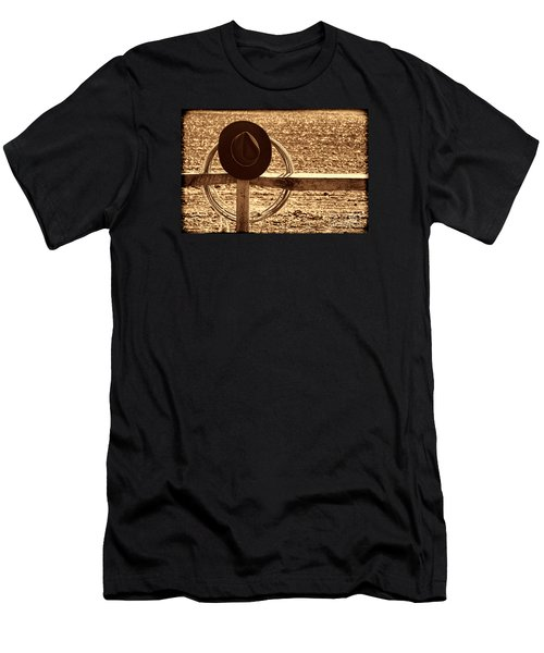 After The Drive Men's T-Shirt (Slim Fit) by American West Legend By Olivier Le Queinec