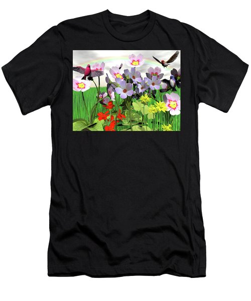 After The Rain Comes The Rainbow Men's T-Shirt (Athletic Fit)