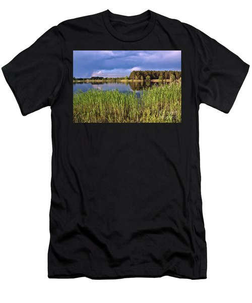 Men's T-Shirt (Athletic Fit) featuring the photograph After The Rain Poetry by Silva Wischeropp
