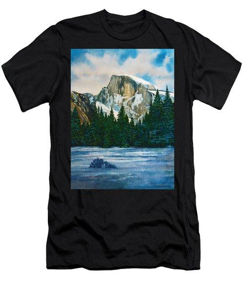 After The Snowfall, Yosemite Men's T-Shirt (Slim Fit) by Douglas Castleman