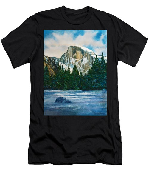 After The Snowfall, Yosemite Men's T-Shirt (Athletic Fit)