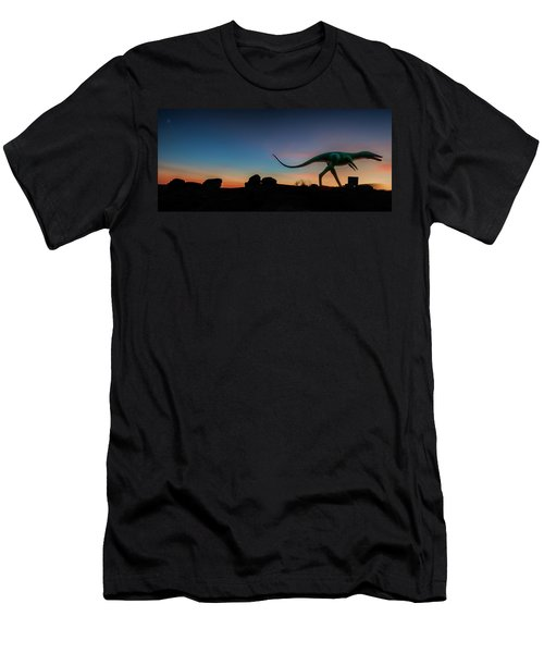 Afterglow Dinosaur Men's T-Shirt (Athletic Fit)