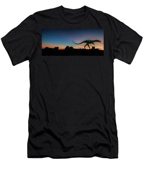 Afterglow Dinosaur Men's T-Shirt (Athletic Fit)