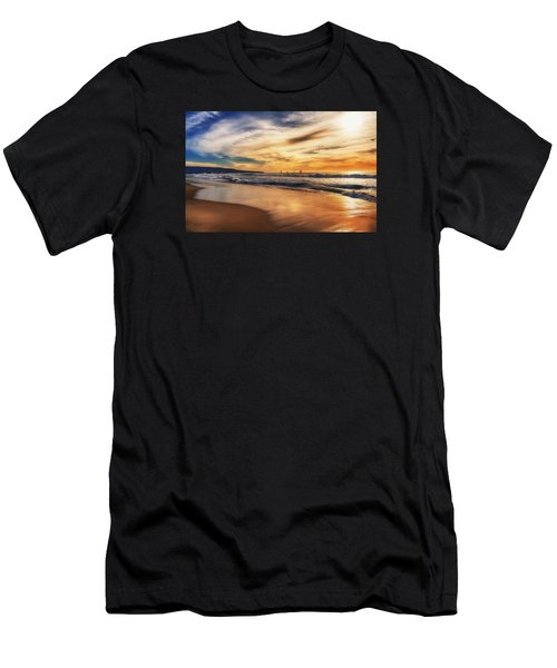 Men's T-Shirt (Athletic Fit) featuring the photograph Afternoon At The Beach by Michael Hope
