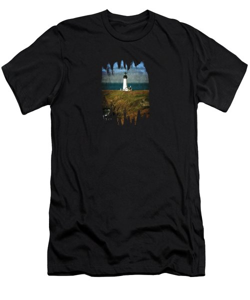 Afternoon At The Yaquina Head Lighthouse Men's T-Shirt (Athletic Fit)
