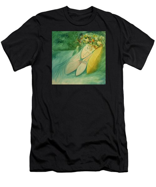 Afternoon Nap In The Garden Men's T-Shirt (Athletic Fit)