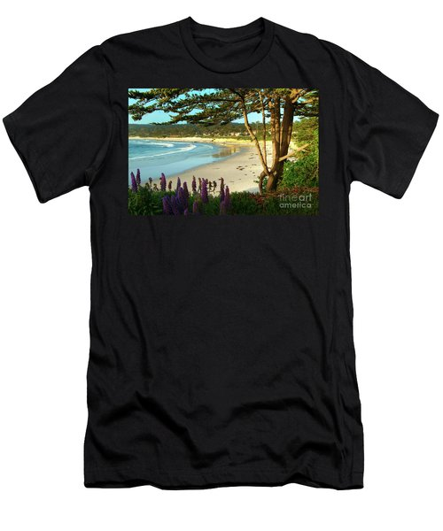 Afternoon On Carmel Beach Men's T-Shirt (Athletic Fit)