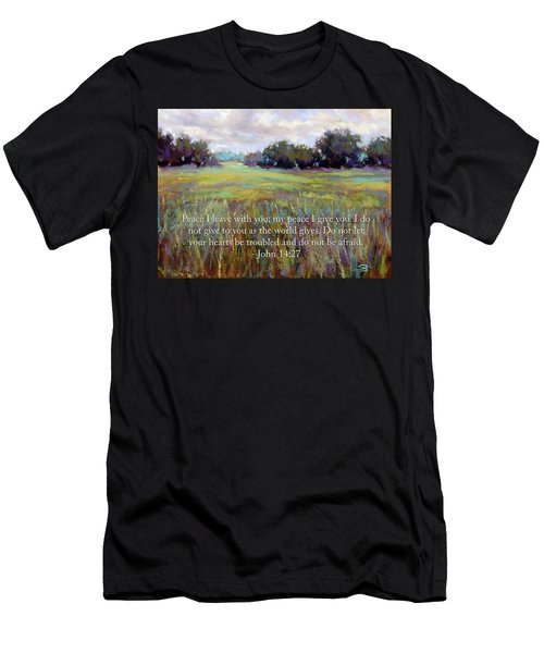 Afternoon Serenity With Bible Verse Men's T-Shirt (Athletic Fit)