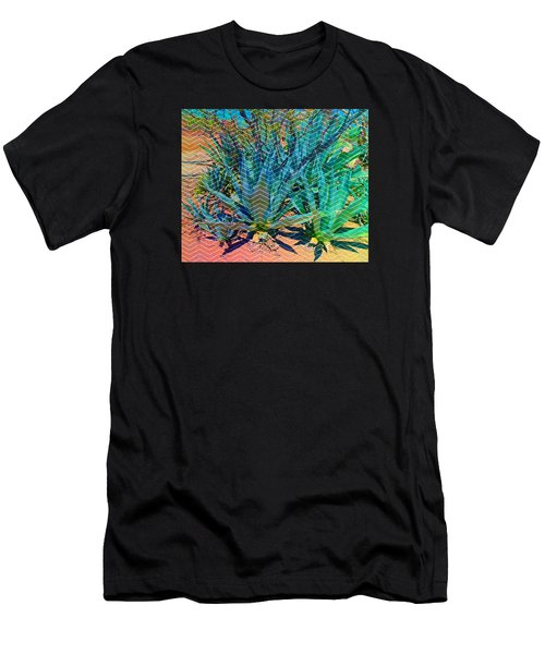 Men's T-Shirt (Athletic Fit) featuring the mixed media Agave by Michelle Dallocchio