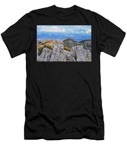 Aguereberry Point Rocks Men's T-Shirt (Athletic Fit)