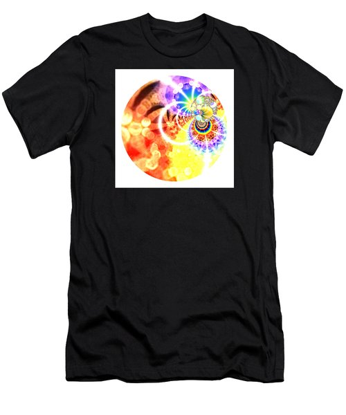 Men's T-Shirt (Athletic Fit) featuring the digital art Ahau Dots by Robert Thalmeier