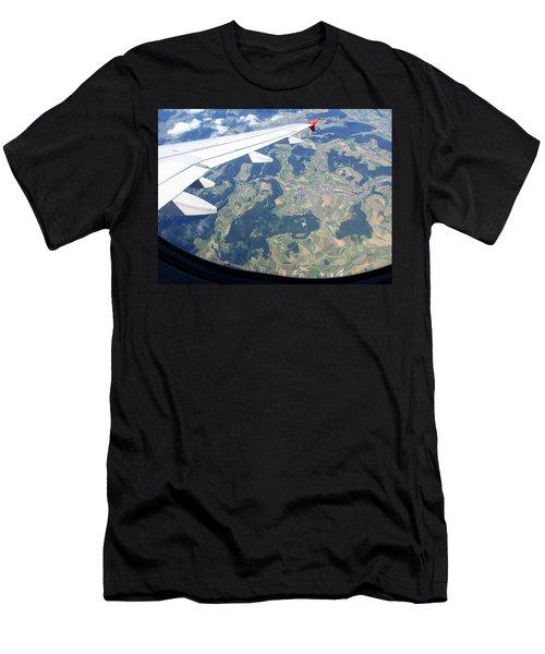 Air Berlin Over Switzerland Men's T-Shirt (Athletic Fit)