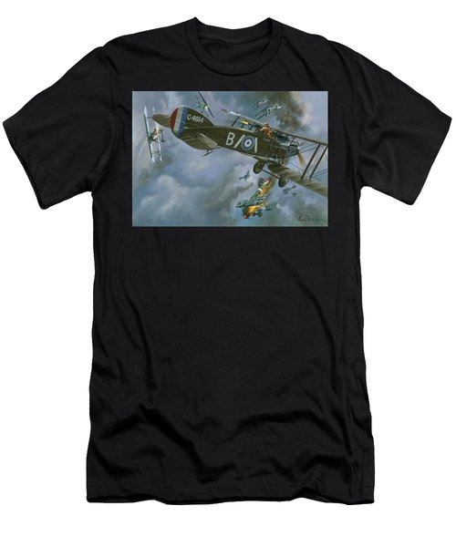 Aircraft In Dogfight Men's T-Shirt (Athletic Fit)