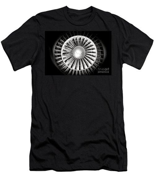 Aircraft Turbofan Engine Men's T-Shirt (Athletic Fit)