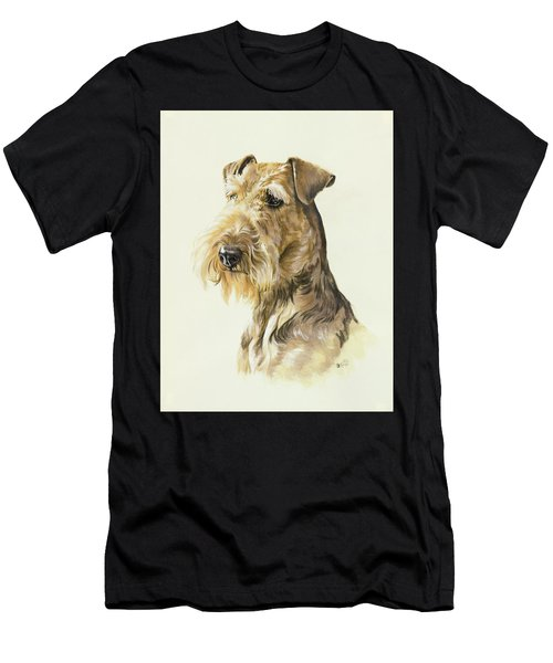 Men's T-Shirt (Athletic Fit) featuring the painting Airedale In Watercolor by Barbara Keith