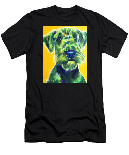 Airedale Terrier - Apple Green Men's T-Shirt (Athletic Fit)