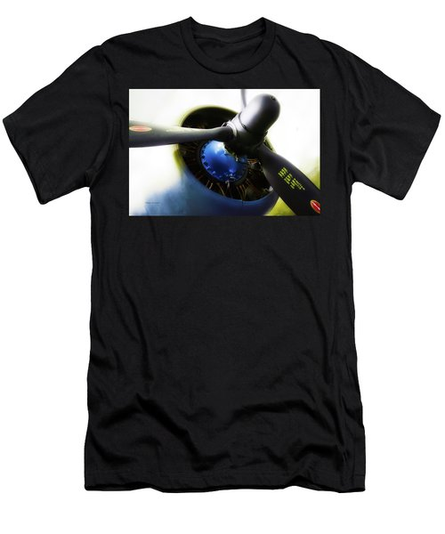 Airplane Military C47a Skytrain Engine Propeller Men's T-Shirt (Athletic Fit)
