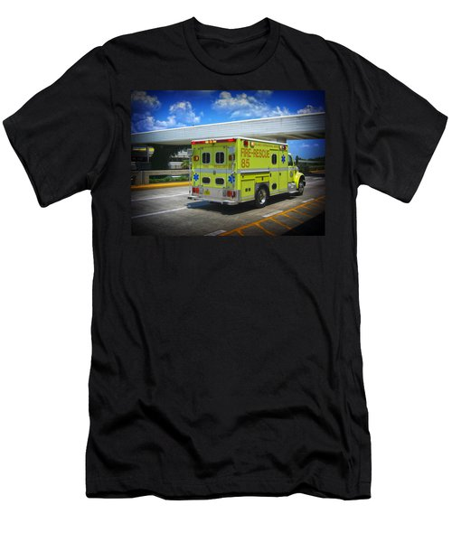 Airport Ambulance Men's T-Shirt (Slim Fit) by RKAB Works