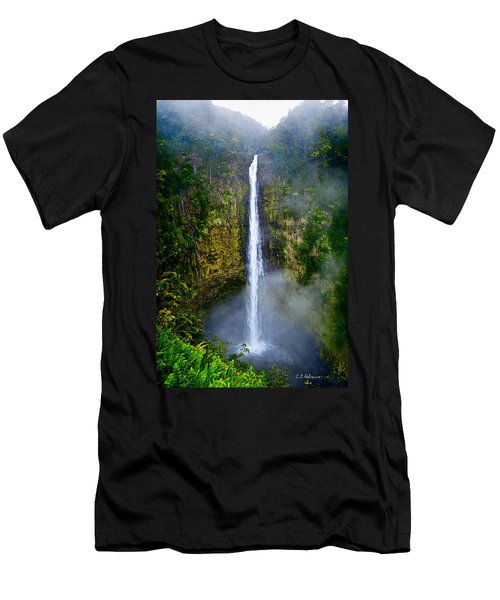 Akaka Falls Men's T-Shirt (Slim Fit) by Christopher Holmes