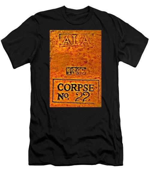 Alabama Civil War 1863 Corpse No 22 Toe Tag Men's T-Shirt (Athletic Fit)