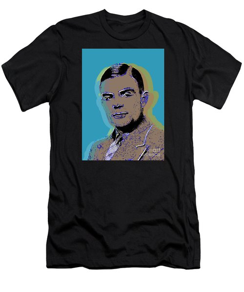 Alan Turing Pop Art Men's T-Shirt (Athletic Fit)