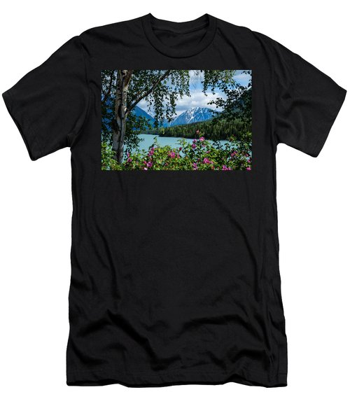 Alaska Through The Trees Men's T-Shirt (Athletic Fit)