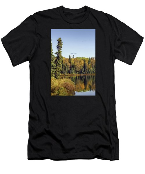 Alaskan Lake In Autumn Men's T-Shirt (Athletic Fit)