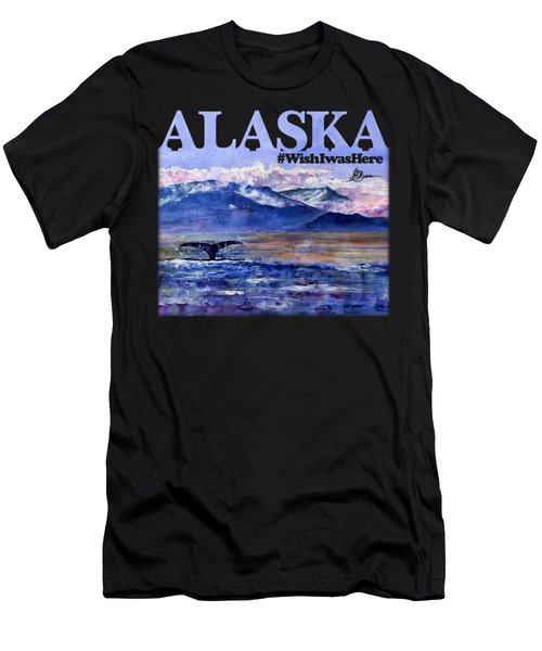 Alaskan Landscape On Water Shirt Men's T-Shirt (Athletic Fit)