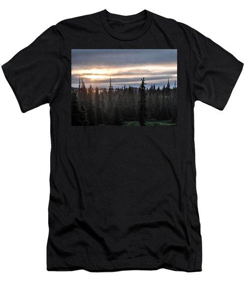 Alaskan Sunset Sunrise Men's T-Shirt (Athletic Fit)